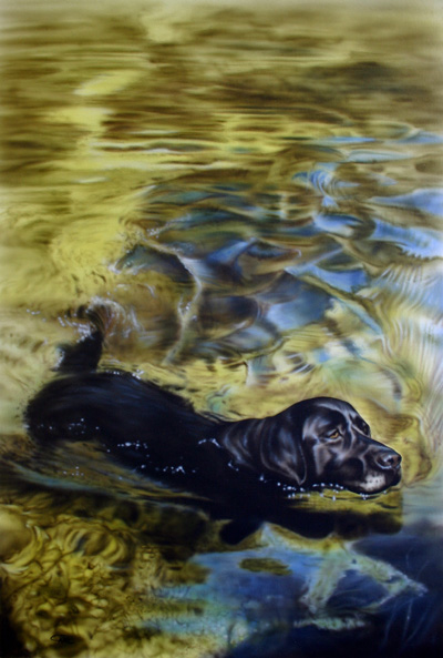 Pet portrait painting by Carl Thompson