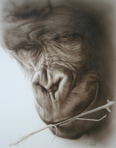 Gorilla painting by Carl Thompson