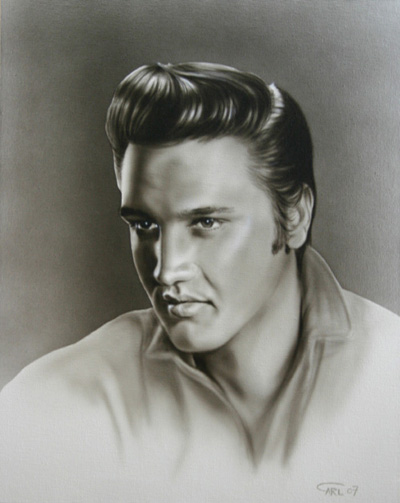 Elvis Presley painting by Carl Thompson