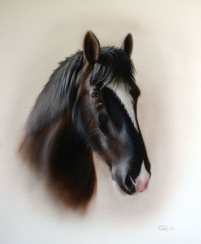 Horse painting by Carl Thompson